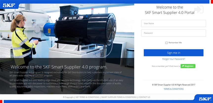 SKF Smart Supplier 4.0 Program